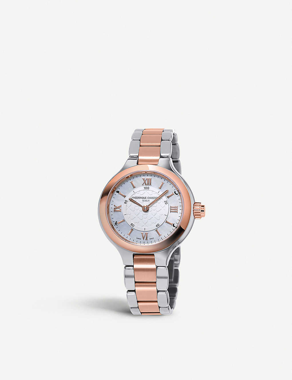 FREDERIQUE CONSTANT: FC-281WH3ER2B Constant Horological rose gold-plated stainless steel Smartwatch