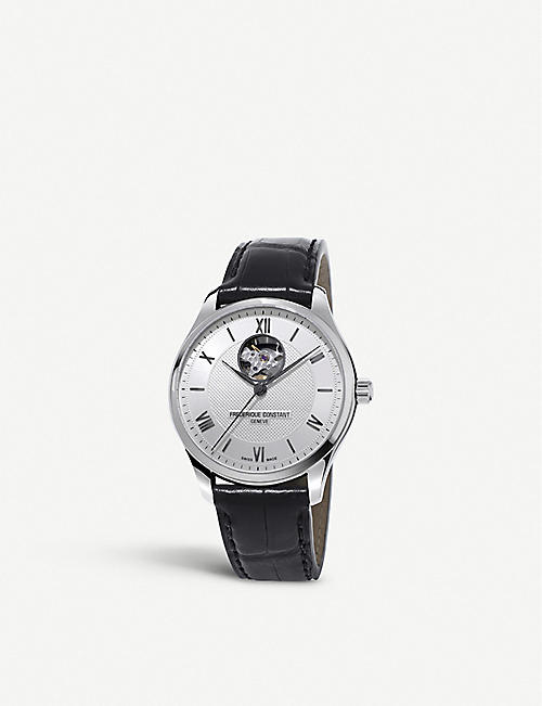 FREDERIQUE CONSTANT FC-310MS5B6 Classic Index Heart Beat stainless steel and alligator-embossed leather watch