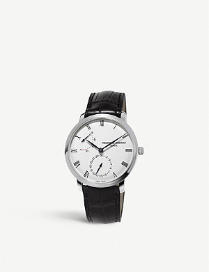 FREDERIQUE CONSTANT FC.723WR3S6 Slimline stainless steel and leather watch