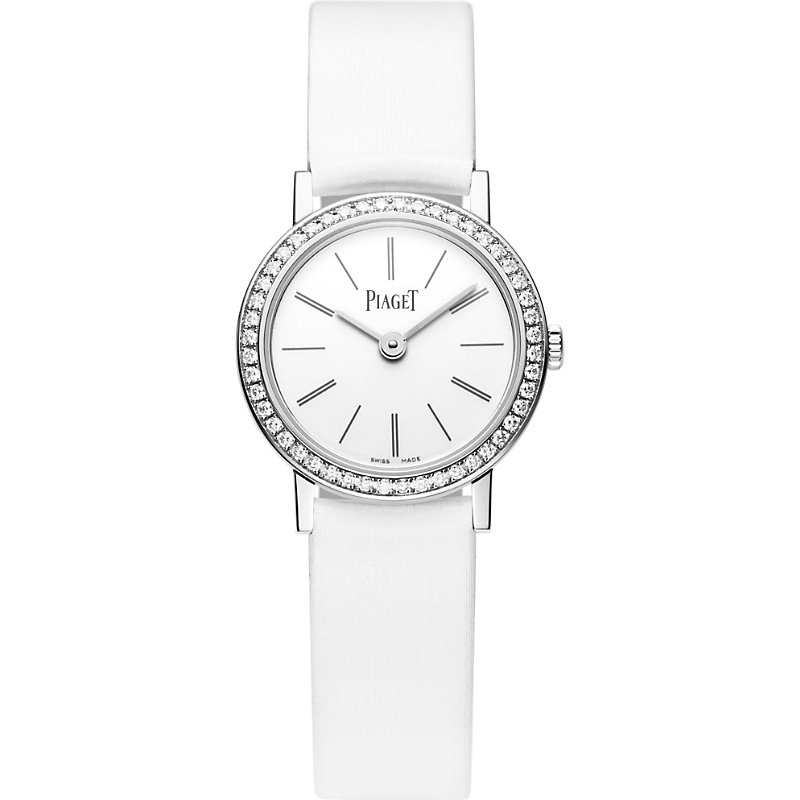 PIAGET | Altiplano 18k White-Gold, Diamond And Leather Watch | Goxip