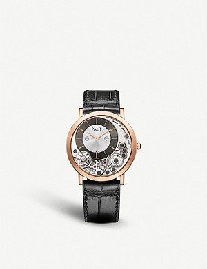 PIAGET Altiplano 18ct gold and alligator leather watch