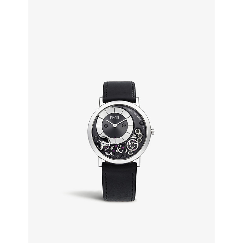 PIAGET | Altiplano 18ct White Gold And Alligator Leather Watch | Goxip