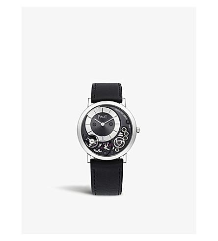 Piaget ALTIPLANO 18CT WHITE GOLD AND ALLIGATOR LEATHER WATCH