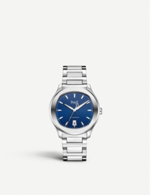 PIAGET G0A41002 Polo S steel and sapphire crystal watch