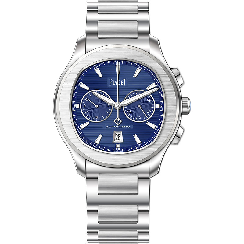 PIAGET | G0A41006 Polo S Steel And Sapphire Crystal Chronograph Watch | Goxip