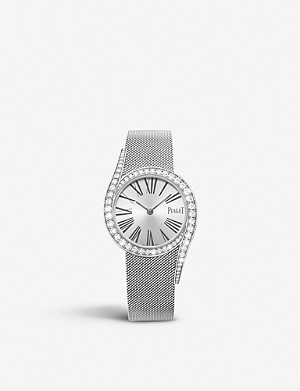 PIAGET Limelight Gala 18ct White Gold and diamond bracelet watch