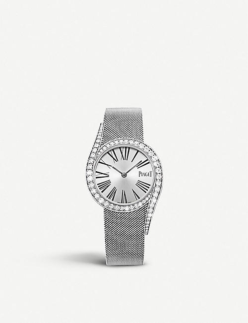 PIAGET: Limelight Gala 18ct White Gold and diamond bracelet watch