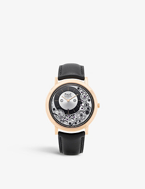 PIAGET G0A43120 Altiplano Ultimate 18ct rose gold and alligator leather watch