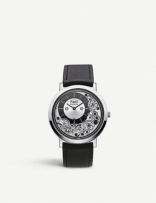 PIAGET G0A43121 Altiplano Ultimate 18ct white gold and alligator leather watch