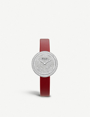 PIAGET G0A44098 Possession 18ct white-gold, 2.35ct diamonds and alligator-leather quartz watch