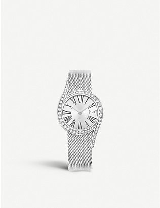 PIAGET: G0A44212 18ct white-gold and diamond bracelet watch