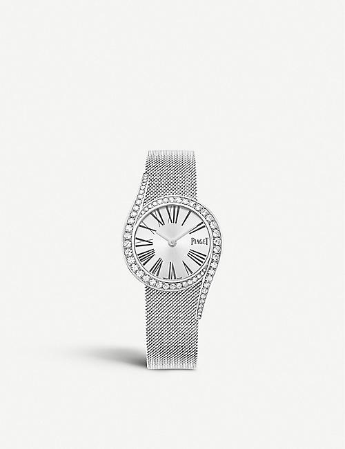 PIAGET G0A44212 18ct white-gold and diamond bracelet watch