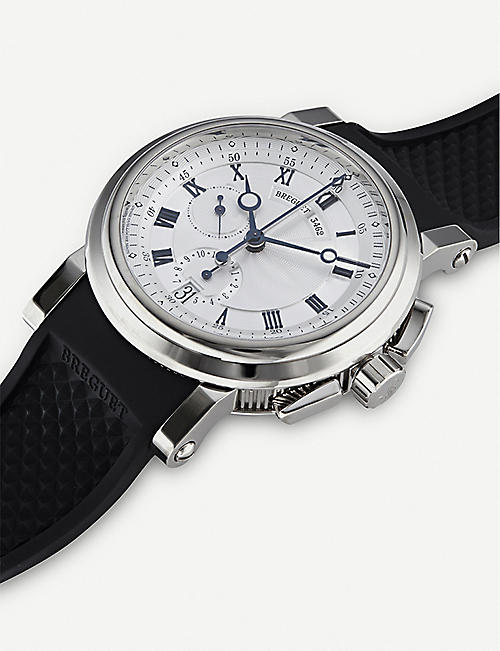 BREGUET 5827BB/12/5ZU Marine 18ct white-gold chronograph watch