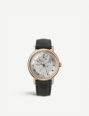 BREGUET G7727BR129WU Classique 18ct rose-gold and leather watch