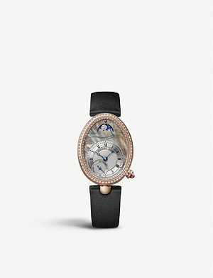 BREGUET G8908BR5T864D00D Reine de Naples 18ct white-gold, mother-of-pearl and diamond watch