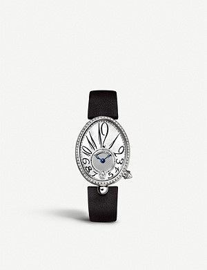 BREGUET 8918BB/58/864/D00D Reine de Naples 18ct white-gold, mother-of-pearl and diamond watch