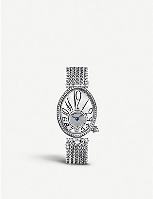 BREGUET: G8918BB58J31D0DD Queen of Naples 18ct white-gold, mother-of-pearl and diamond watch