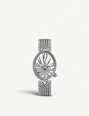 BREGUET G8918BB58J31D0DD Queen of Naples 18ct white-gold, mother-of-pearl and diamond watch