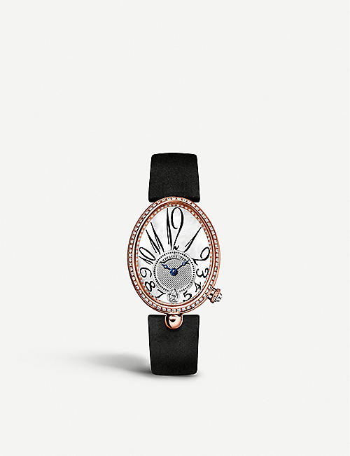 BREGUET 8918BR/58/864/D00D Reine de Naples 18ct rose-gold, mother-of-pearl and diamond watch