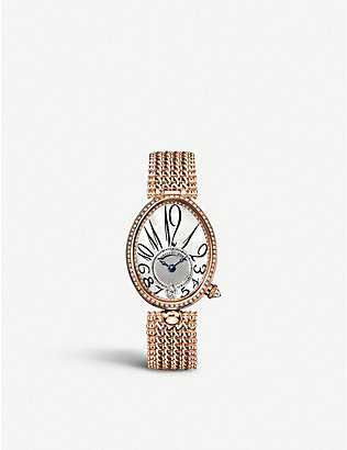 BREGUET: G8918BR58J20D000 Queen of Naples rose-gold, mother-of-pearl and diamond watch