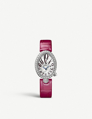 BREGUET G8928BB51844DD0D Queen of Naples 18ct white gold, diamond and mother-of-pearl watch