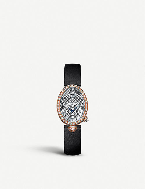 BREGUET: G8928BR8D844DD0D Queen of Naples 18ct rose gold and diamond watch
