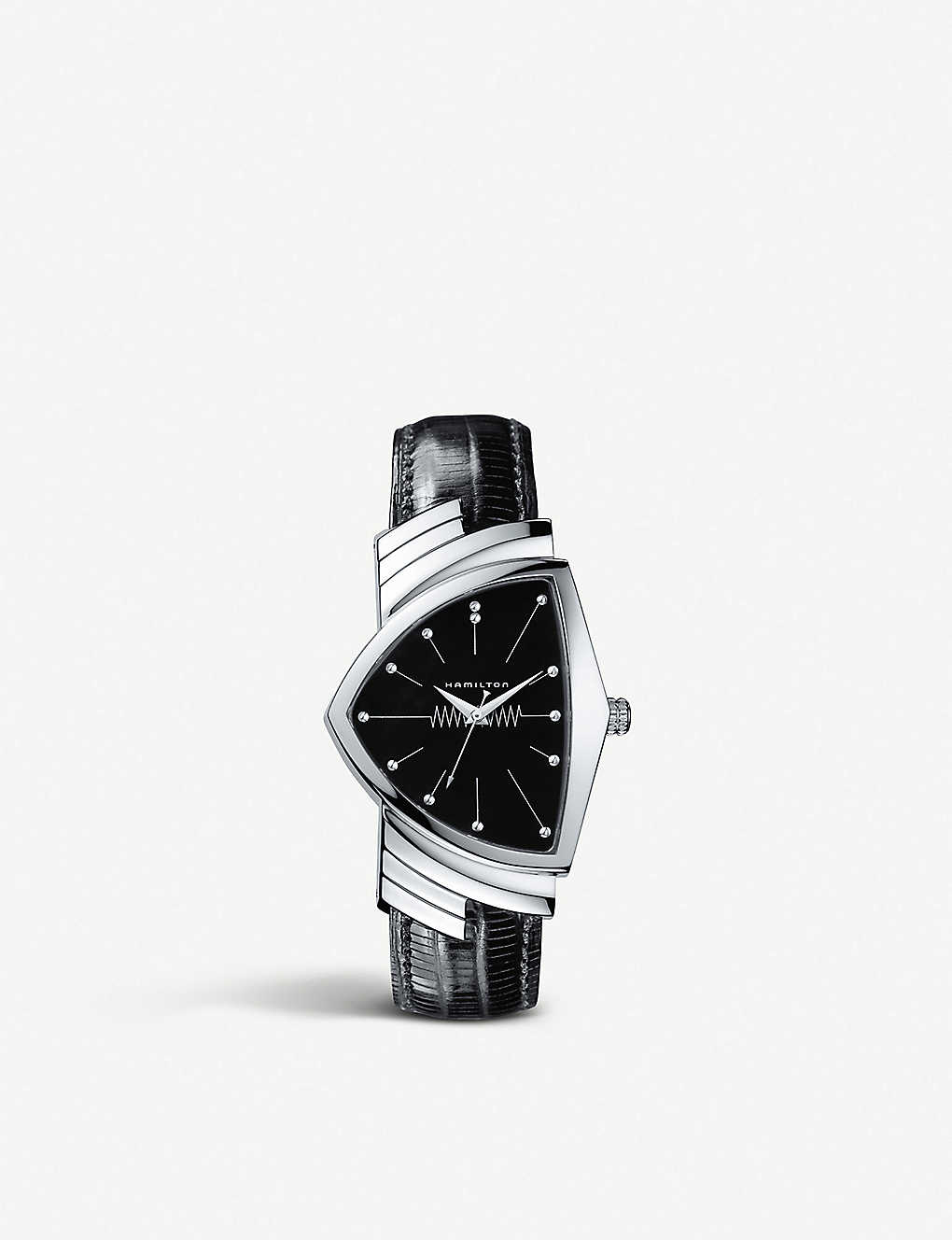 eba8c7e9421 HAMILTON - H24411732 Ventura stainless steel and leather watch ...