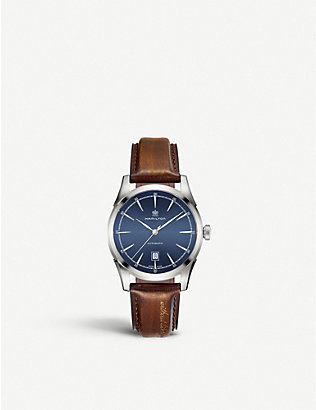 CALVIN KLEIN: H42415541 Spirit of liberty stainless steel and leather watch