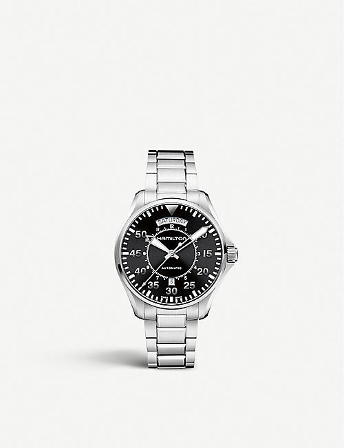 HAMILTON: H64455133 King Auto stainless steel watch