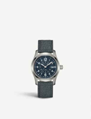 HAMILTON H70605943 Khaki Field stainless steel and fabric watch