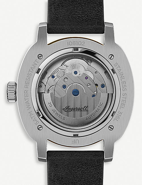 INGERSOLL I08102 The Director stainless steel and leather watch