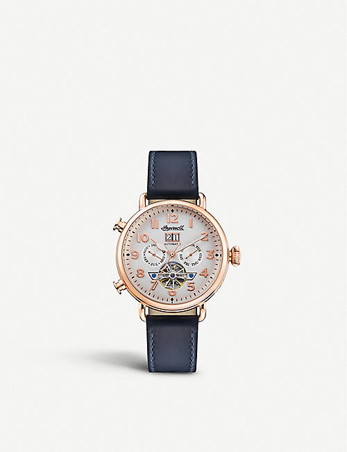 INGERSOLL I09501 The Muse stainless steel and leather watch