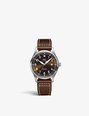 JAEGER-LECOULTRE IW327003 Pilots Mark XVIII Edition stainless steel and leather watch
