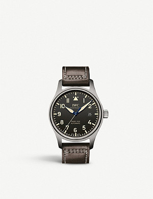 IWC SCHAFFHAUSEN IW327006 Pilot Mark XVIII Heritage titanium and leather automatic watch