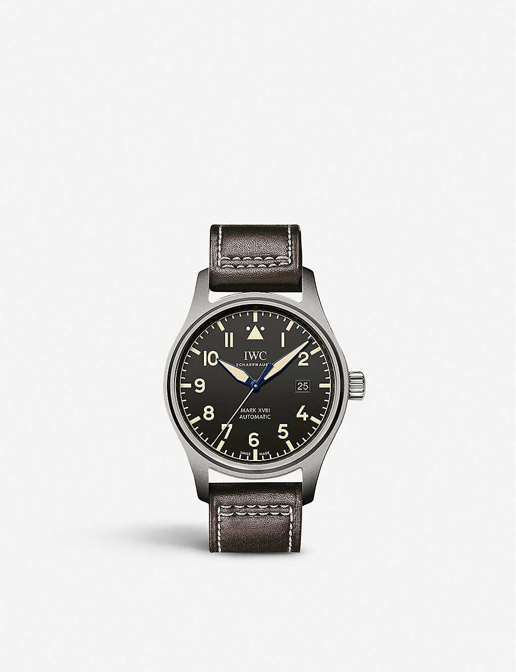 IWC SCHAFFHAUSEN: IW327006 Pilot Mark XVIII Heritage titanium and leather automatic watch