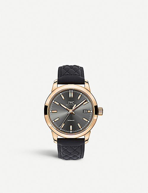 IWC SCHAFFHAUSEN: IW357003 Ingenieur 18ct rose-gold and satin watch