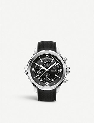 IWC SCHAFFHAUSEN: IW376803 Aquatimer stainless steel and rubber chronograph watch