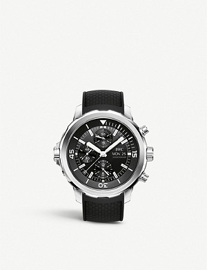 IWC SCHAFFHAUSEN IW376803 Aquatimer stainless steel and rubber chronograph watch