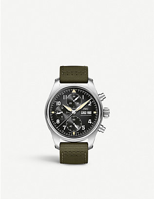 IWC SCHAFFHAUSEN: IW387901 Pilot's Watch Chronograph Spitfire stainless steel and textile watch