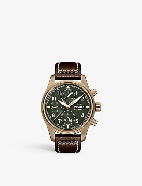 IWC SCHAFFHAUSEN: IW387902 Pilot's Watch Chronograph Spitfire bronze and leather watch
