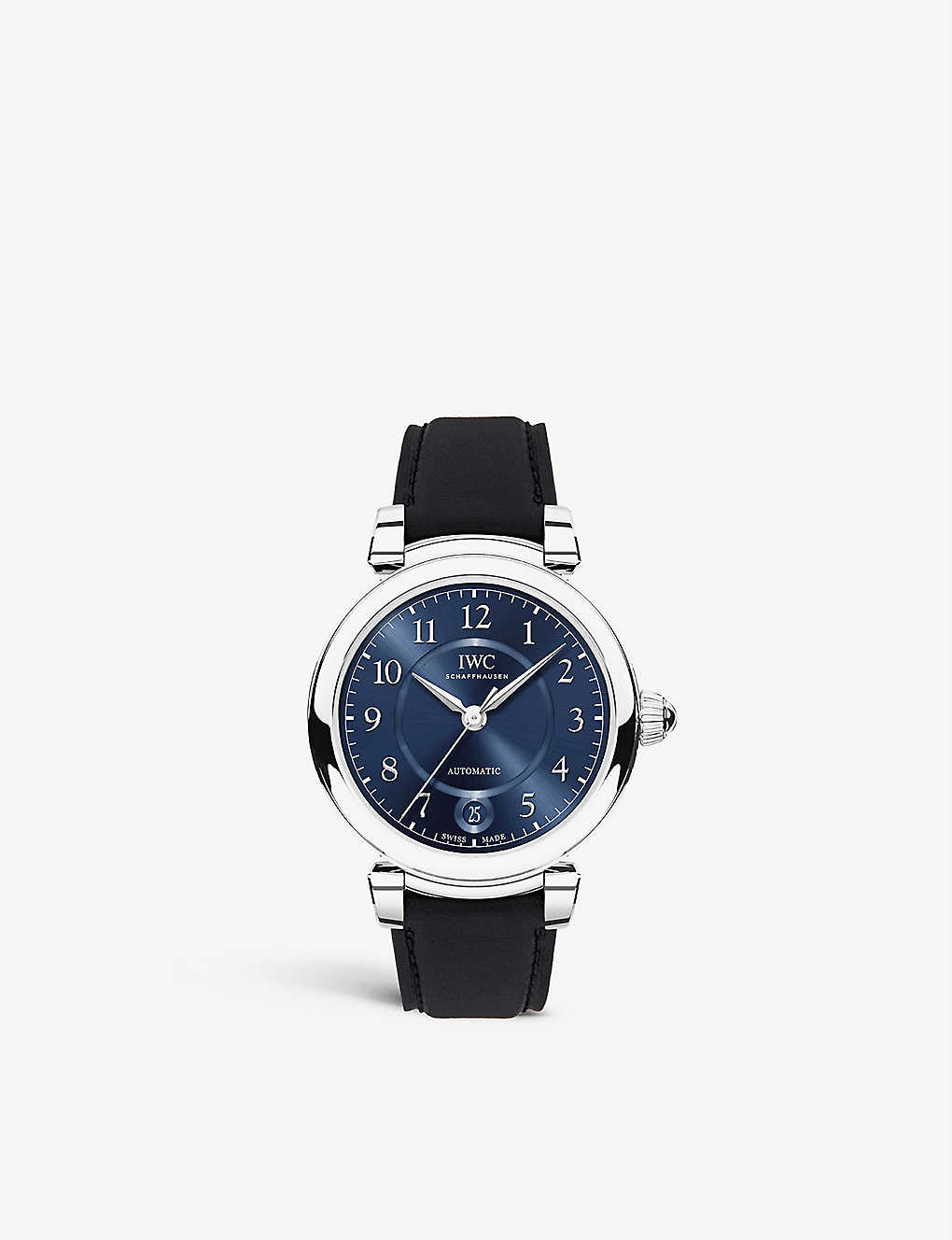 IWC SCHAFFHAUSEN: IW458312 Da Vinci Automatic 36 stainless steel and leather watch