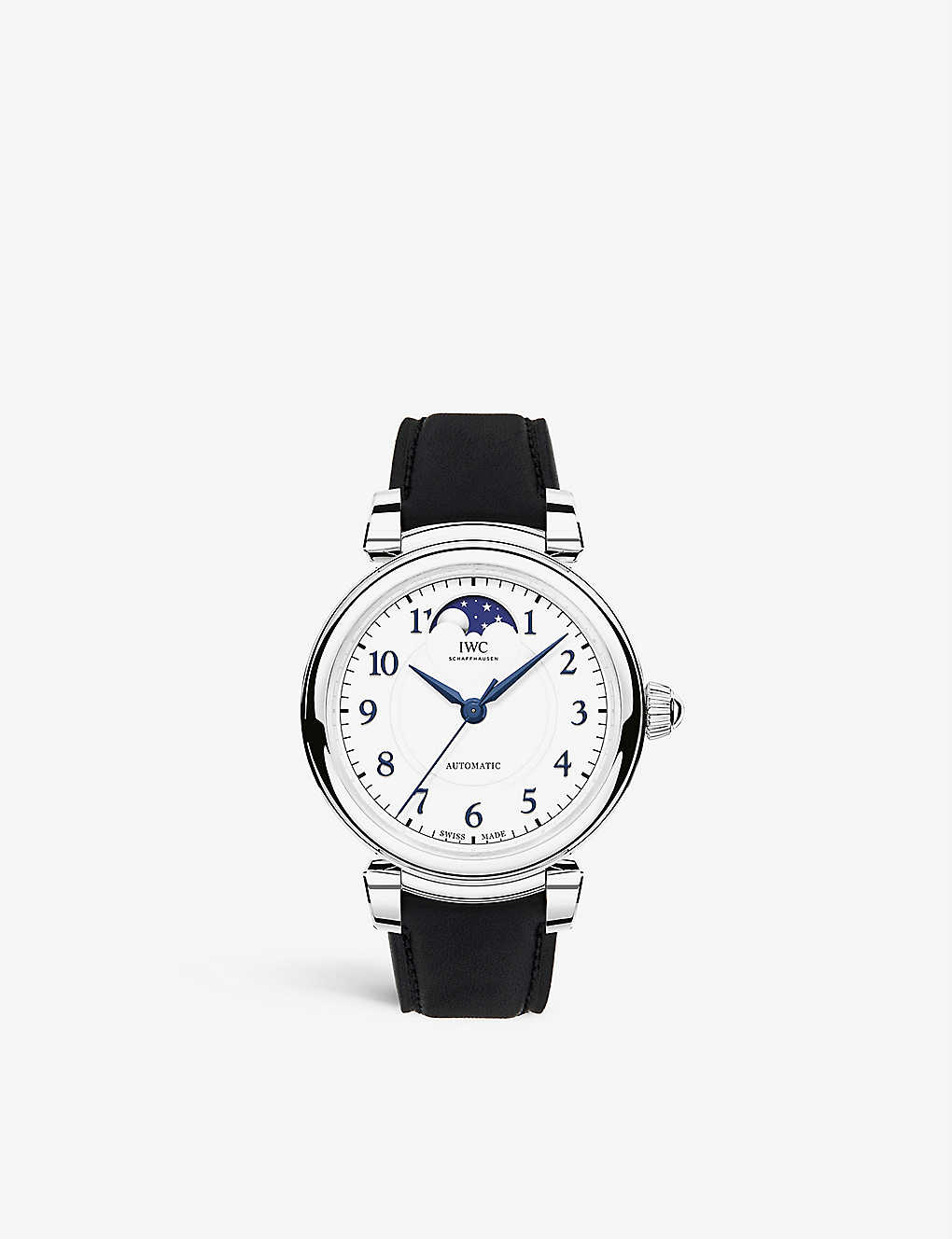 IWC SCHAFFHAUSEN: IW459306 Da Vinci Automatic Moon Phase 36 stainless steel and leather watch