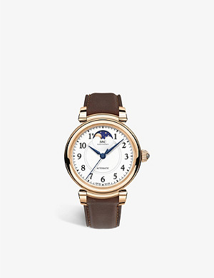 IWC SCHAFFHAUSEN IW459308 Da Vinci Moon Phase 36 18ct rose-gold and alligator leather watch