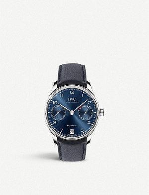 IWC SCHAFFHAUSEN IW500710 Portugeiser stainless steel chronograph watch