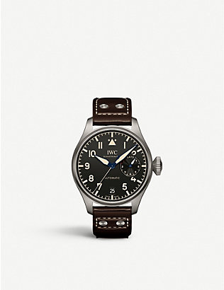 IWC SCHAFFHAUSEN: IW501004 Big Pilot Heritage titanium and leather automatic watch