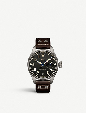 IWC SCHAFFHAUSEN IW501004 Big Pilot Heritage titanium and leather automatic watch
