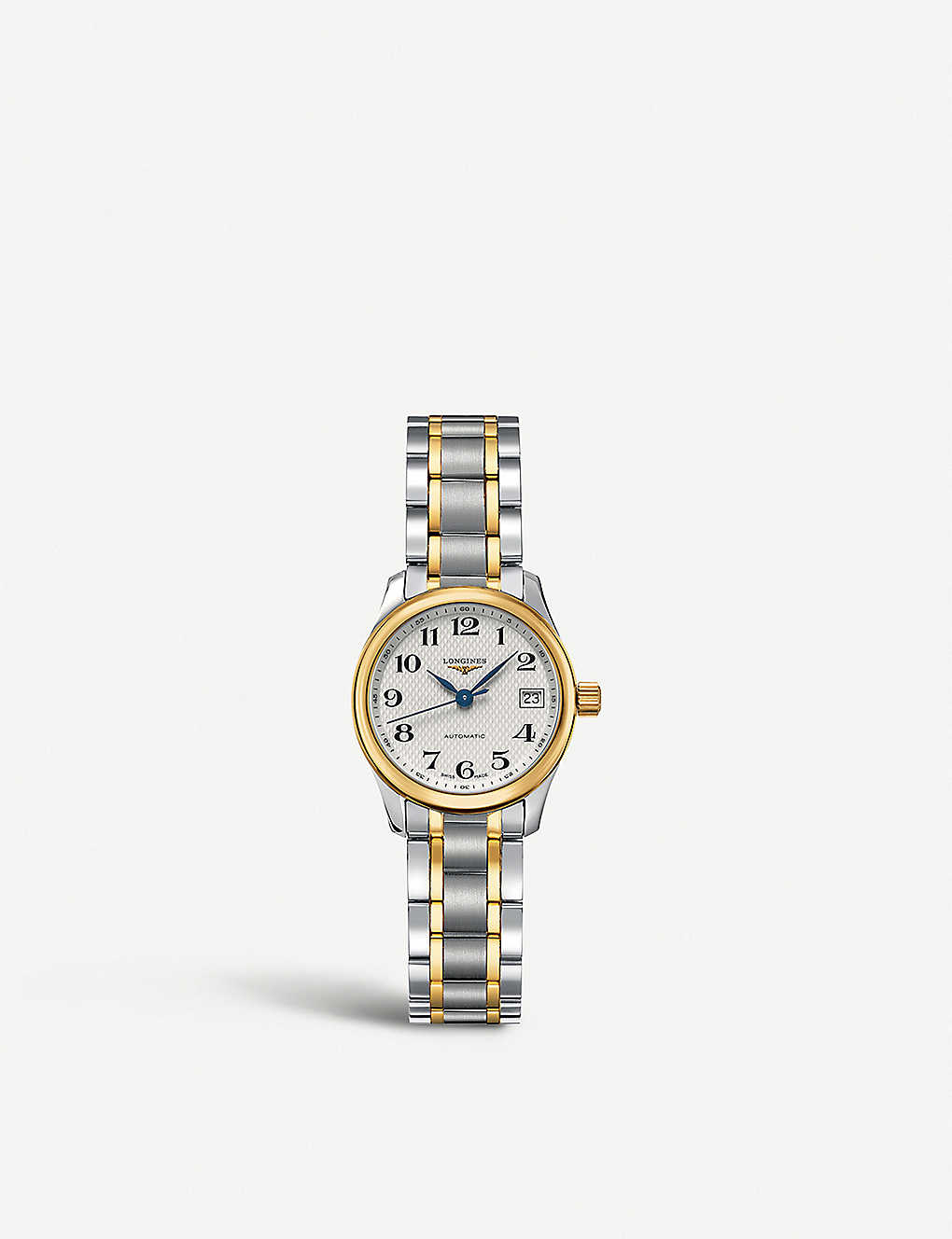 LONGINES: L2.128.5.78.7 Master 18-carat gold and stainless steel watch