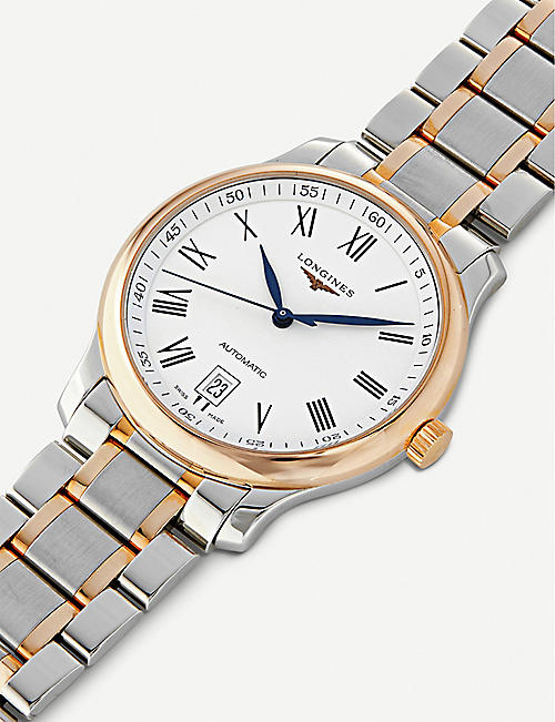 LONGINES L2.628.5.19.7 Master Collection 18ct rose gold-plated stainless steel watch