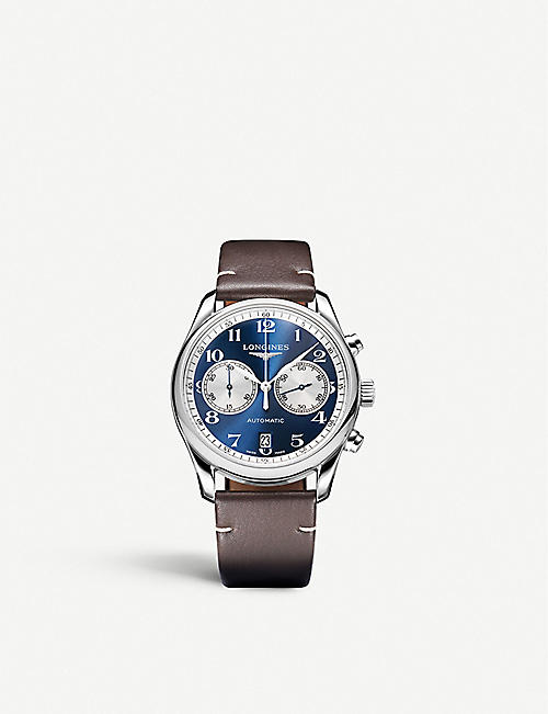LONGINES: L26294992 Master Collection stainless steel chronograph watch
