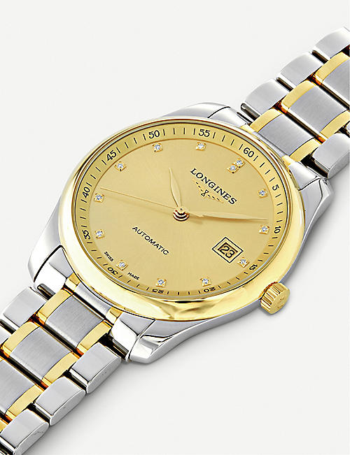 LONGINES L2.793.5.37.7 Master 18ct yellow-gold cap 200 and stainless steel watch